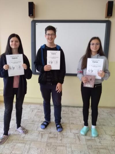 Vítězové školního kola Olympiády v českém jazyce